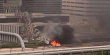 بلدية دبي تفيد أن هيكل مانع الصواعق كان السبب في حادث شارع الشيخ زايد