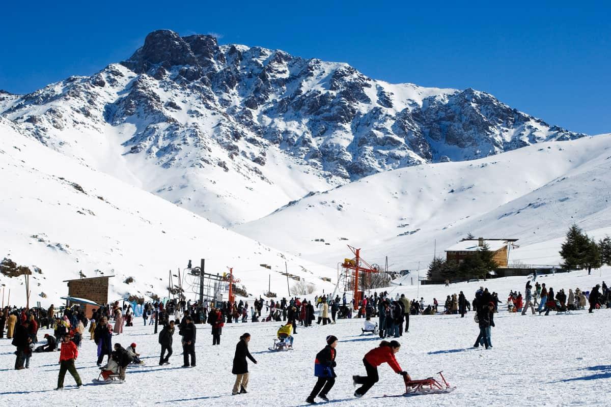 التزلج على الجليد في مراكش المغرب