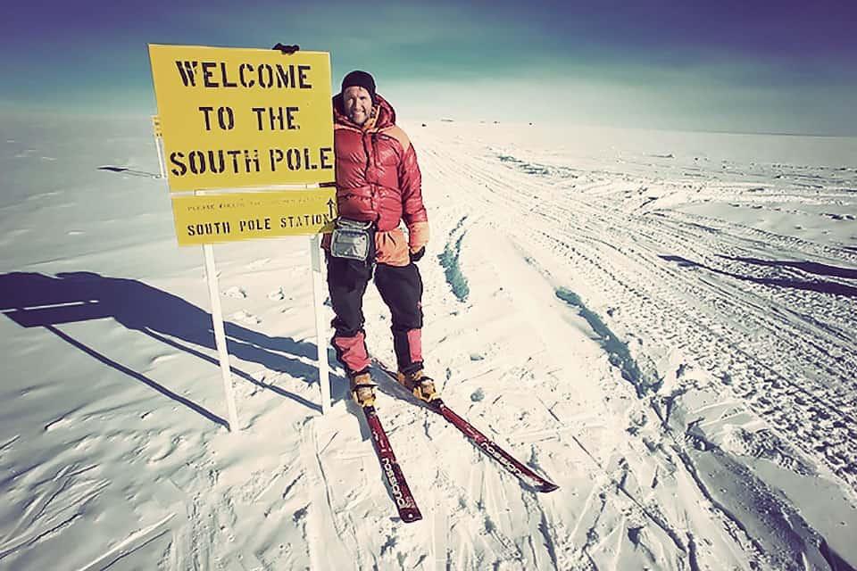 التزلج على الجليد في القطب الجنوبي
