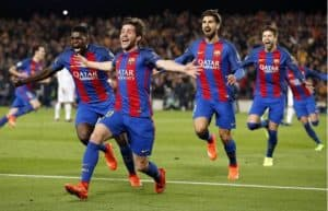 سيرجي روبيرتو برشلونة وباريس سان جيرمان أبطال اوروبا إياب 16 2017