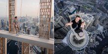 بالفيديو | روسيان يتسلقان ناطحة سحاب في دبي