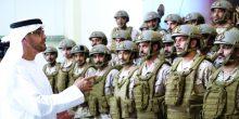 محمد بن زايد يزور معهد تدريب حرس الرئاسة