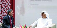 أبوظبي | محمد بن زايد يستقبل وزير خارجية سنغافورة