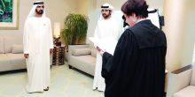 قاضية استئناف مركز دبي المالي العالمي تؤدي اليمين القانونية أمام محمد بن راشد