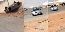 شرطة أبوظبي تقبض على ثلاثة شباب قاموا بالتفحيط والاستعراض بمركباتهم