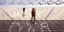 بالصور | مظلة شمسية تقيك حرارة الطقس خارجا في دبي
