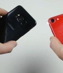 فيديو | غالاكسي إس 8 VS آيفون 7، أي الهاتفين يصمد في اختبار السقوط؟